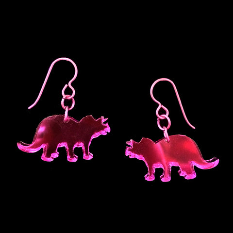 Colored Mirrored Dino Earrings