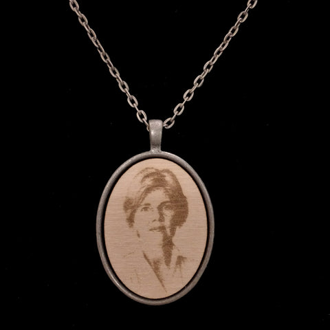 Wood Elizabeth Warren Necklace