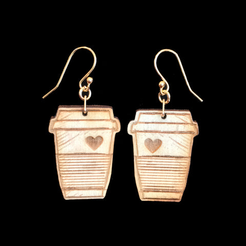 Birch Coffee Love Earrings
