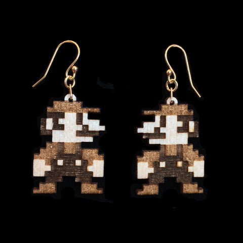 Birch 8bit Mario Earrings