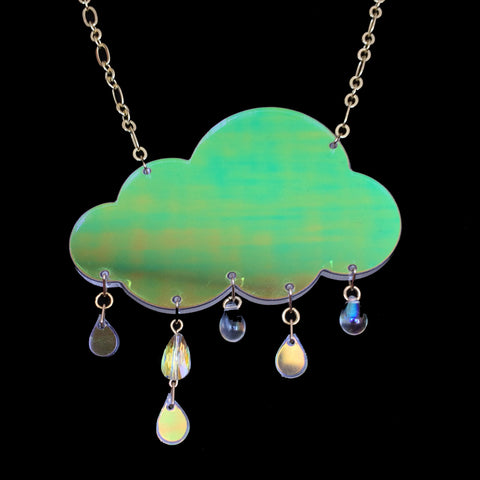 Iridescent Rain Cloud Necklace