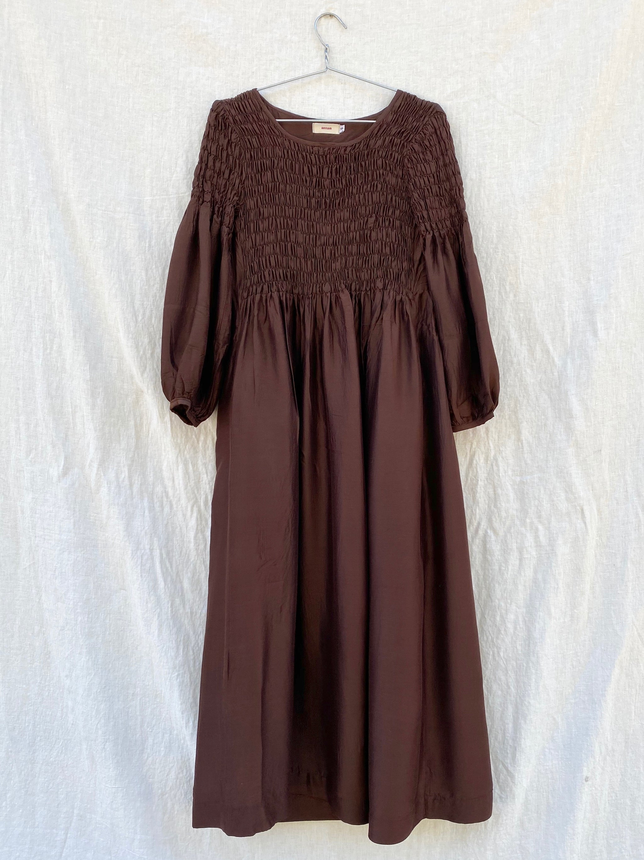Sasha Smock Dress - Brown