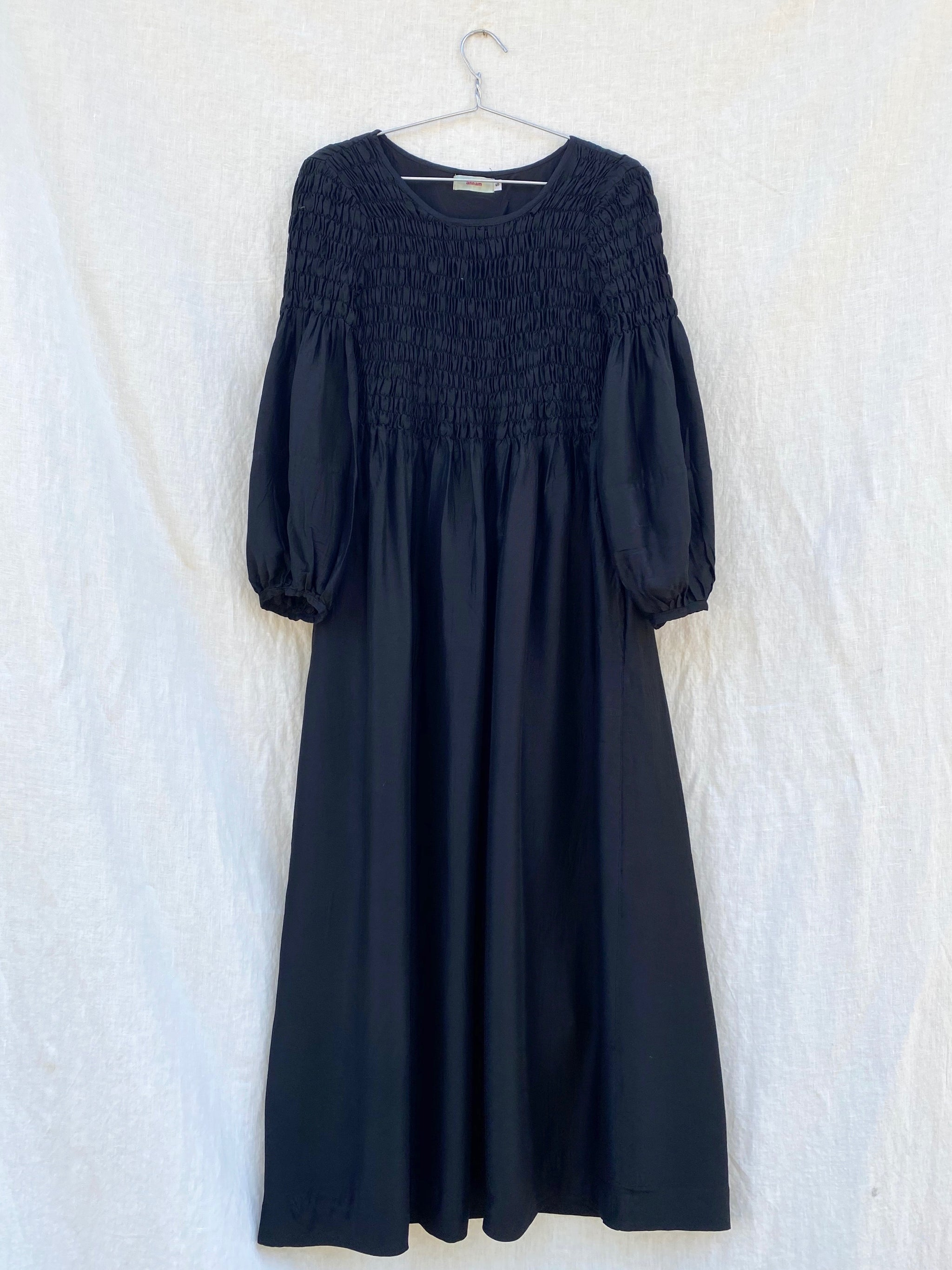 Sasha Smock Dress - Black