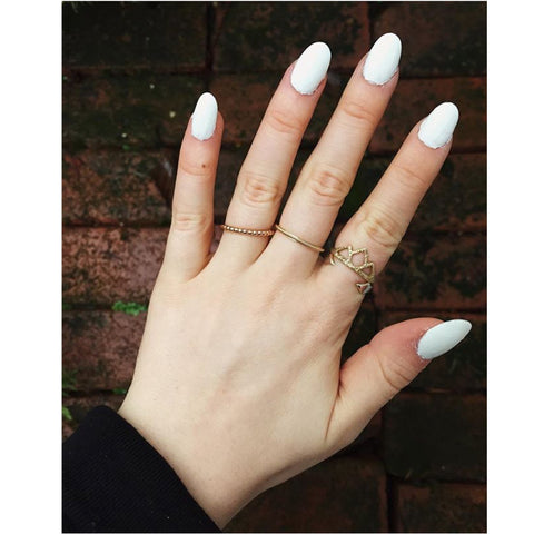 Jessica Whitaker Instagram with Stefanie Sheehan Spire Ring