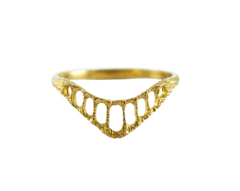 Brass Pinnacle Ring by Stefanie Sheehan Handmade Jewelry