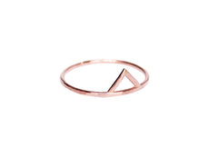 Rose Gold Spike Ring