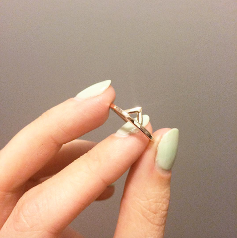 Rose Gold Mega Spike Ring