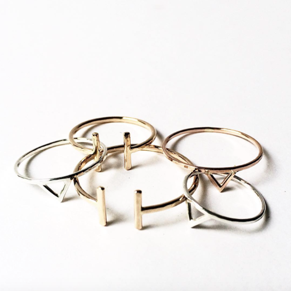 Simple, classic rings by Stefanie Sheehan
