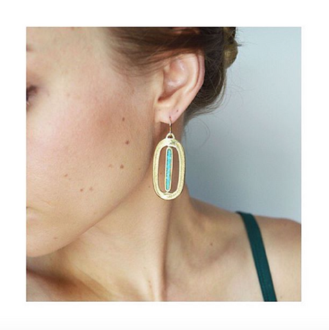 Paradise Earrings with Turquoise