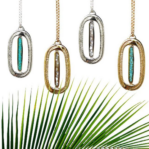 Paradise Necklaces with Crushed Stone