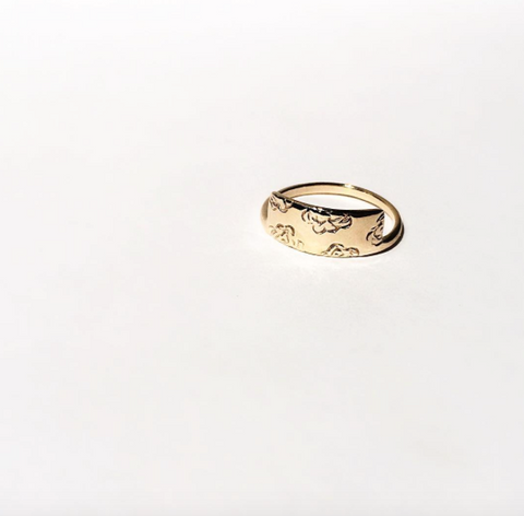 14K Gold Air Ring