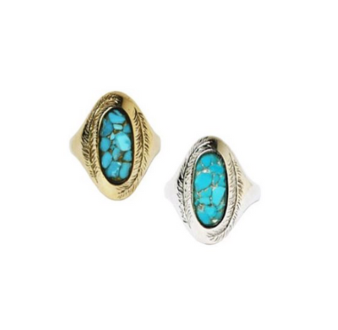 Paradise Rings with Turquoise