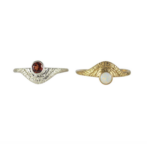 Day Rings with Gemstones