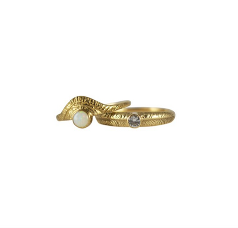 14K gold rings by Stefanie Sheehan