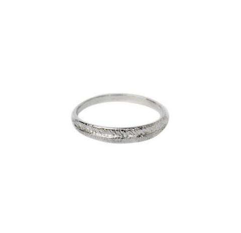 Sterling Silver Single Palm Ring by Stefanie Sheehan