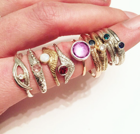 Gemstone Rings by Stefanie Sheehan