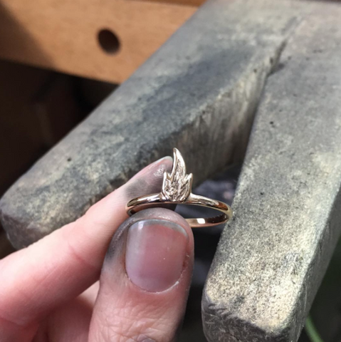 Gold Fire Ring