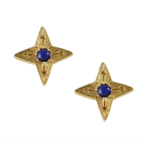Sapphire Star Earrings
