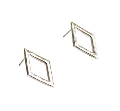 Large Diamond Shape Earrings