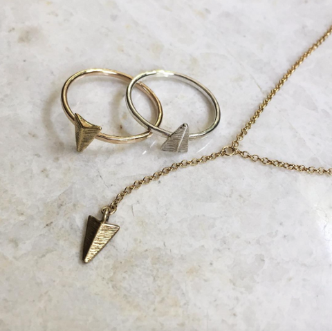 Arrow Rings and Necklace