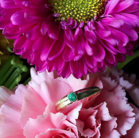 Emerald Palm Ring