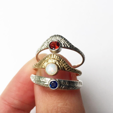 Red White & Blue Rings