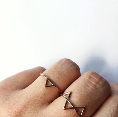 Thin Gold Rings, Spike Rings