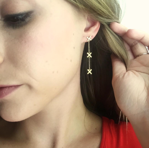 X Dangle Earrings