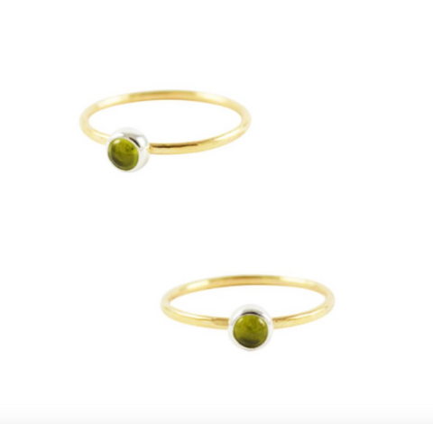Peridot Ring, August Birthstone