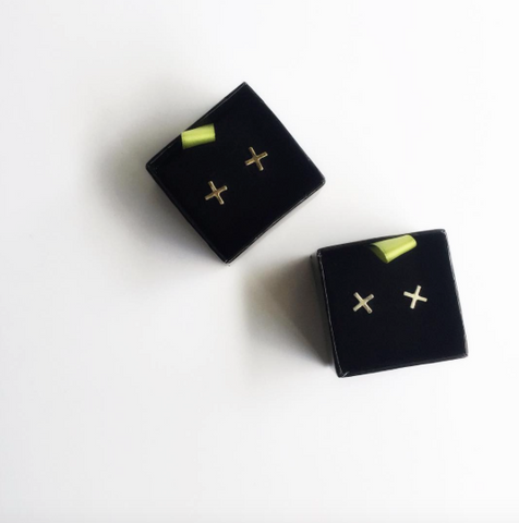 X Stud Earrings, Simple Earrings