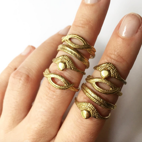 Palm Leaf Rings, Sun Rings