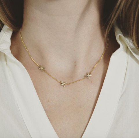 X Necklace, Simple Necklace