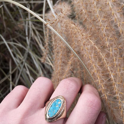 Paradise Ring with Turquoise