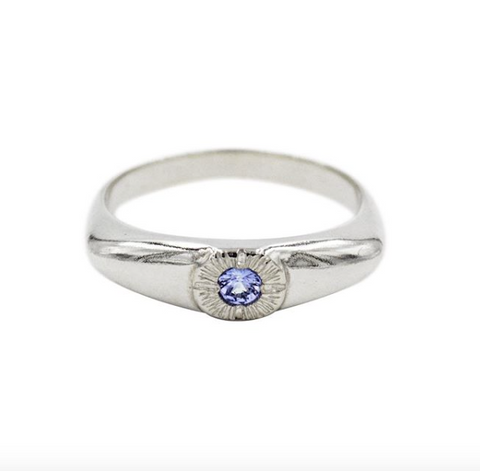 Tanzanite Eye Ring