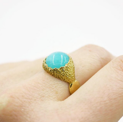 Statement Ring with Amazonite