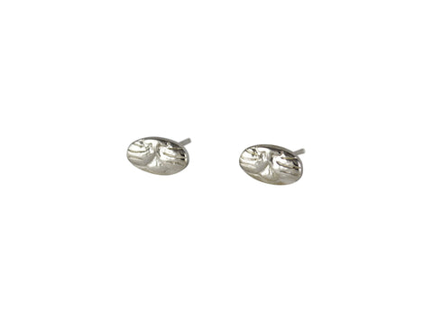Silver Cat Stud Earrings by Stefanie Sheehan Handmade Jewelry
