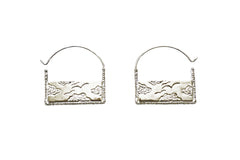 Silver Air Earrings