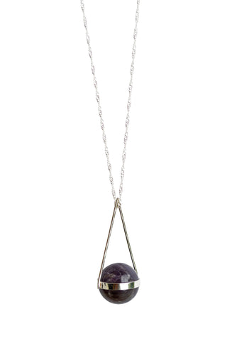 Amethyst Sphere Necklace
