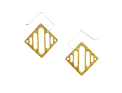 Gold Geometric Arcade Earrings