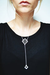 Silver Arcade Lariat Necklace