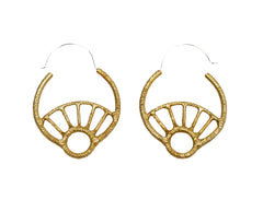 Unique Hoop earrings, Sun Earrings