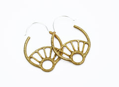 Gold Hoop Earrings with Silver ear wires