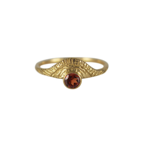 Day Ring with Red Garnet