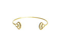 Gold Open Adjustable Cuff Bracelet
