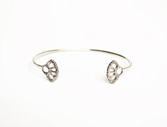Silver Open Adjustable Cuff Bracelet