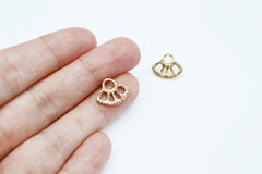 Gold Sun Stud earrings