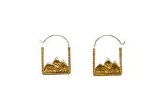 Gold Mountain Range Earrings