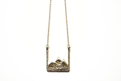 Silver Earth Mountain Necklace