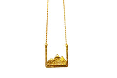 Gold Earth Mountain Range Necklace
