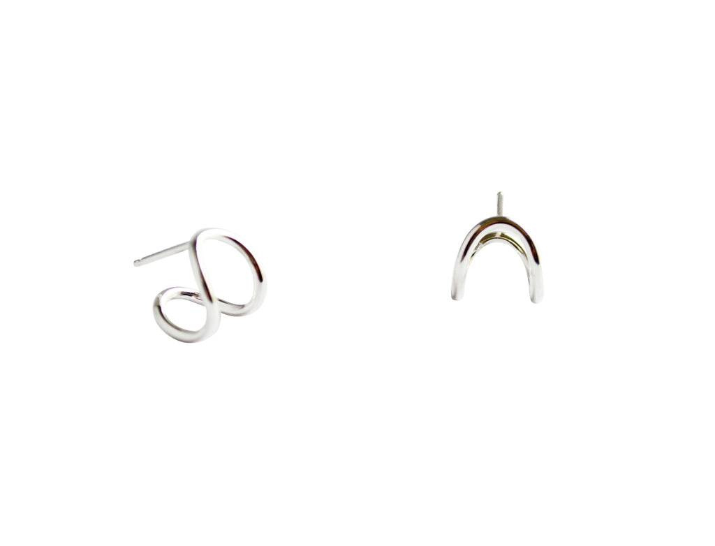 Small Silver Hoop Earrings